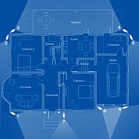 IP відеоспостереження 8 камер (4 Мп) для приватного будинку