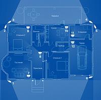 ІР відеонагляд 12 камер (2 Мп) для приватного будинку