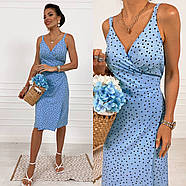 Элегантное платье с запахом длиною миди, фото 4