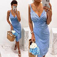 Элегантное платье с запахом длиною миди, фото 3