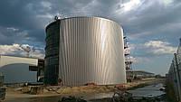 Резервуар вертикальный стальной РВС-500 м³ м.куб для воды с монтажом, изготовление резервуаров