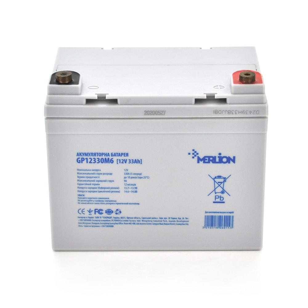 Акумуляторна батарея MERLION AGM GP12330M6 12V 33Ah