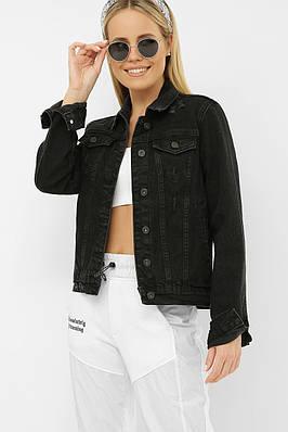 Черный джинсовый пиджак