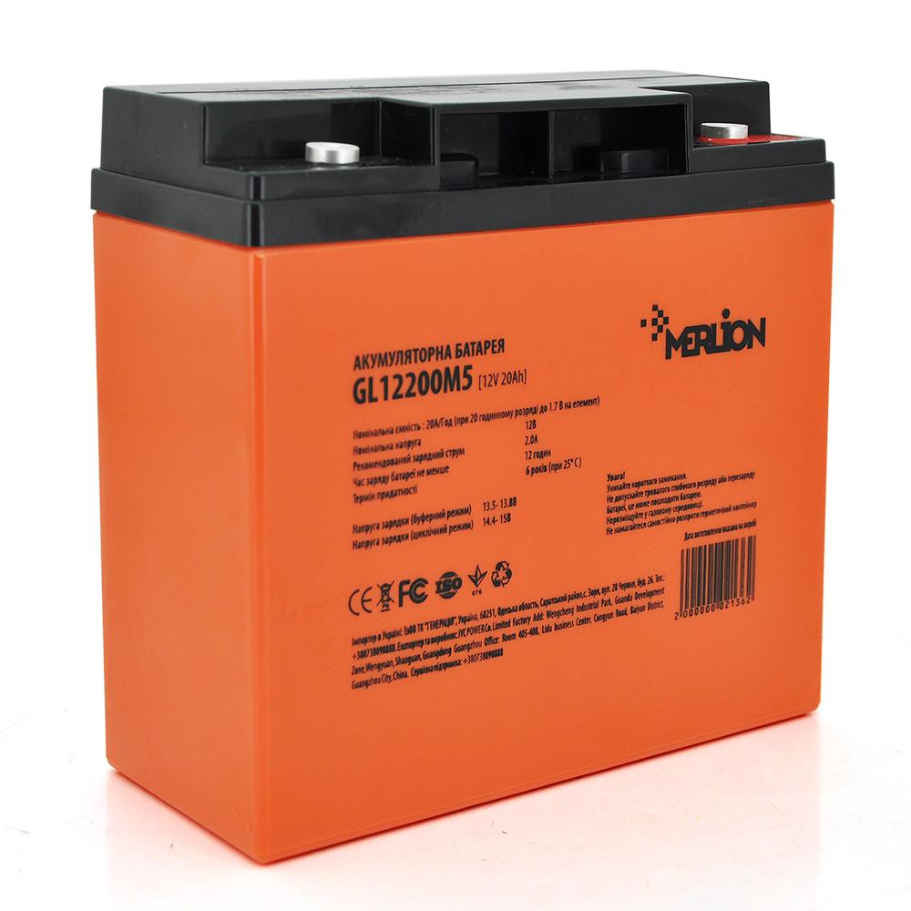 Аккумуляторная батарея MERLION GL1220M5 12V 20Ah