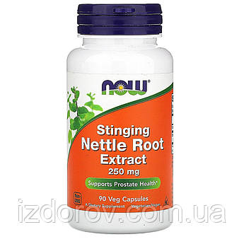 Now Foods, Екстракт кореня кропиви дводомної, 250 мг, Stinging Nettle Root Extract, 90 капсул вегетаріанських