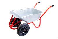Тачка садово-строительная 100 л/ 230 кг, двухколесная MASTERTOOL 79-9854
