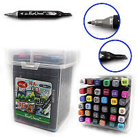 "DSCN0229-36 Набор скет маркеров ""TouchCool"" 36цв., пласт. чемодан, 36шт/этик."