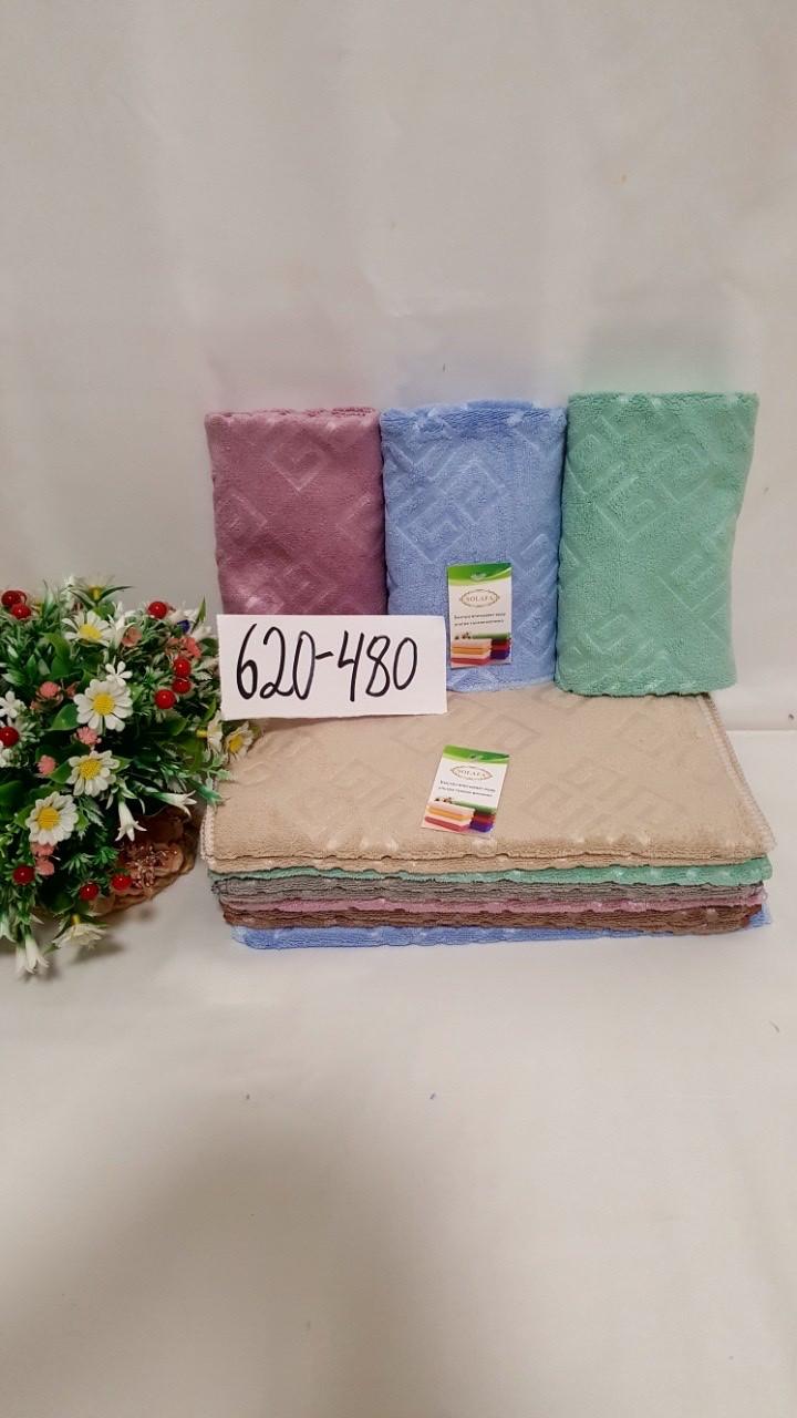 Кухонное полотенце из микрофибры размер 35*70 квадратики микс