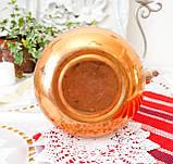 Винтажный медный чайник с фарфоровой ручкой, медь, Германия или Европа, 1,9 литра, фото 8