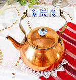 Вінтажний мідний чайник з порцелянової ручкою, мідь, Німеччина або Європа, 1,9 літра, фото 4