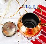 Винтажный медный чайник с фарфоровой ручкой, медь, Германия или Европа, 1,9 литра, фото 6