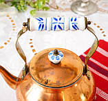 Вінтажний мідний чайник з порцелянової ручкою, мідь, Німеччина або Європа, 1,9 літра, фото 5