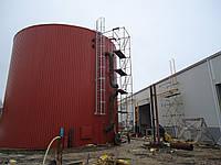 Резервуар вертикальный стальной РВС-3000 м³ м.куб для воды с монтажом, изготовление резервуаров