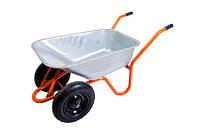 Тачка садово-строительная 100 л/ 200 кг, двухколесная MASTERTOOL 79-9853