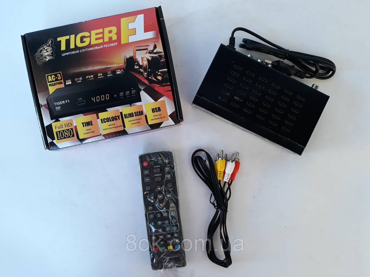 Супутниковий ресивер тюнер Tiger F1 1080 HD