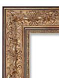 Дзеркало в золотій рамі для ванної, фото 2