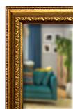 Підлогове дзеркало в золотій рамі 1650х400 мм, фото 4