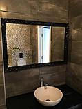 Зеркало в черной раме глянец, фото 4