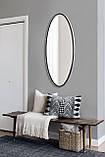 Овальное ростовое зеркало, черное 1300х600 мм, фото 5