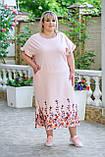 Платье женское нарядное Батал (Арт. KL350/B/Powder), фото 2