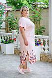 Платье женское нарядное Батал (Арт. KL350/B/Powder), фото 4
