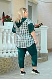 Костюм женский прогулочный Батал (Арт. KL352/B/Green), фото 4