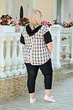 Костюм жіночий прогулянковий Батал (Арт. KL352/B/Black), фото 2