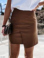 Кожаная короткая юбка мини облегающая стильная модная р-ры 42-46 арт. 798, фото 1