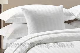 Постельное белье страйп-сатин (белый)