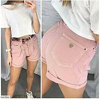 Короткі шорти жіночі модні літні джинс коттон завищена талія р-ри 25-38 арт.7180