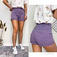 Короткі джинсові шорти жіночі облягаючі колір лаванда р-ри 42-46 арт. 751