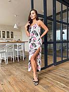 Длинное платье с разрезом из шелка Армани, фото 3