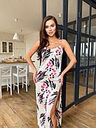 Длинное платье с разрезом из шелка Армани, фото 5