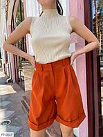 Ділові короткі стильні шорти жіночі класичні із завищеною талією р-ри 42-46 арт. 5233