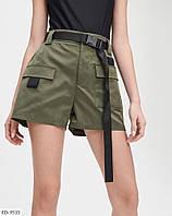Прогулянкові модні короткі шорти з котону в стилі карго р-ри 42-46 арт. 8897