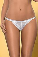 Красивые белоснежные трусики-стринги Obsessive Alabastra thong