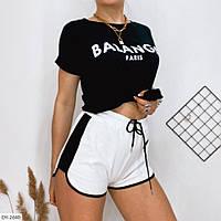 Спортивні короткі шорти жіночі літні двунітка петля р-ри 42-46 арт. 1026