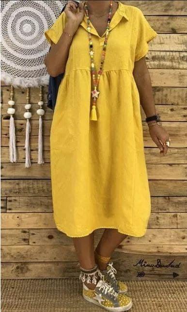 Жіноче плаття батал, американський креп, р-р 48-50; 52-54 (гірчиця)