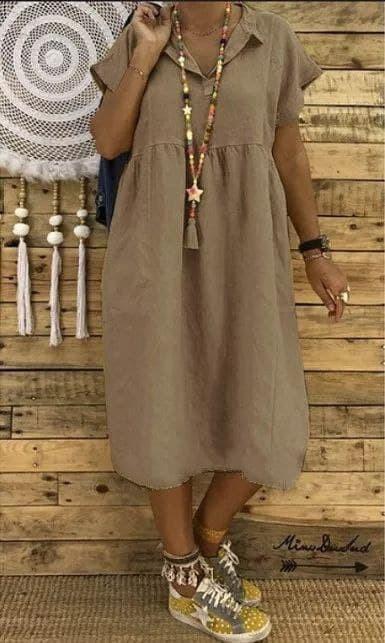 Женское платье батал, американский креп, р-р 48-50; 52-54 (темно-бежевый)
