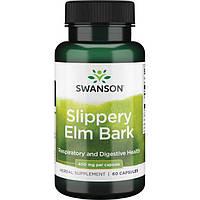 Кора ржавого вяза, Swanson, Slippery Elm Bark, 400 мг, 60 капсул