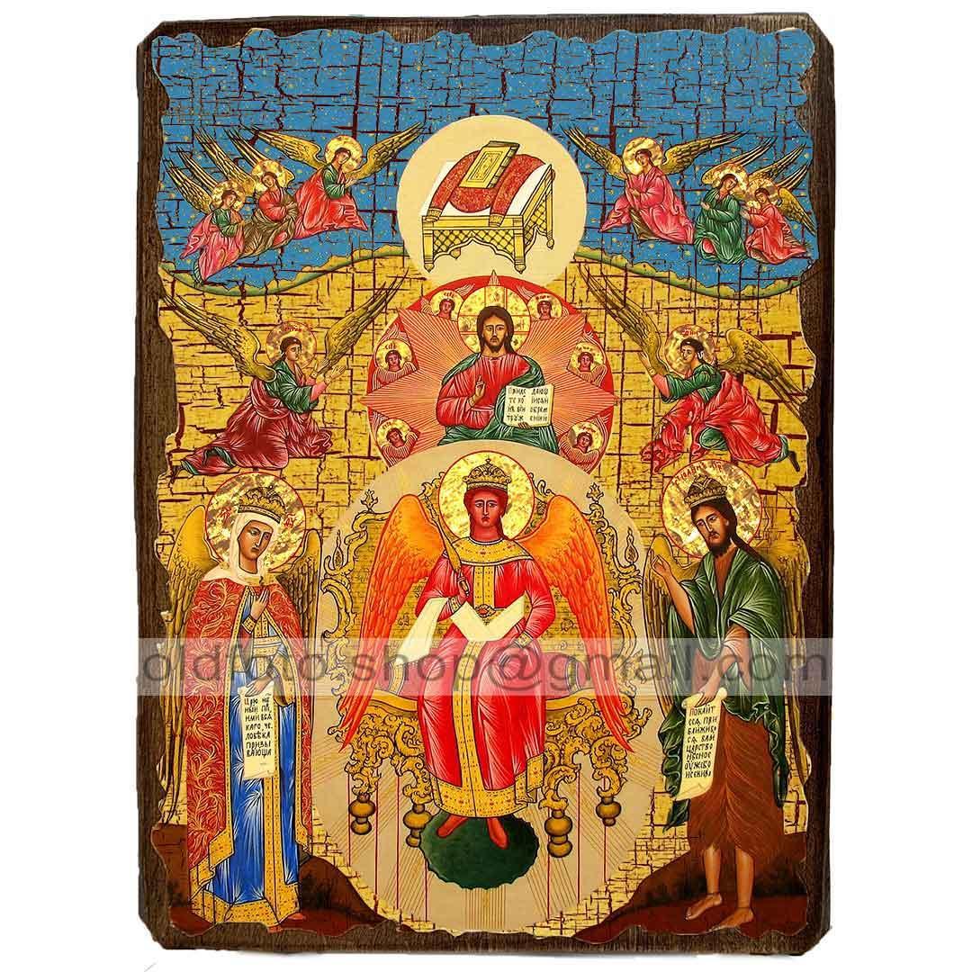 Ікона Софія - Премудрість Божа Божої Матері ,ікона на дереві 130х170 мм