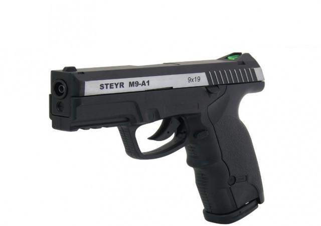 Пистолет ASG Steyr M9-A1 вставка никель