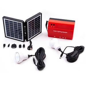 Сонячна станція для кемпінгу на дві лампи. Зарядний пристрій на сонячних батареях