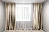 Комплект штор микровельвет Пісочний, фото 1