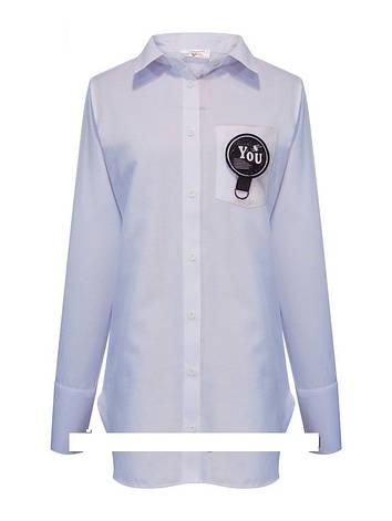Детская рубашка школьная, белая, с рукавом от Lucky Talin | 8-16 лет, фото 2