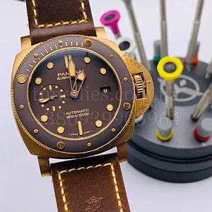 Чоловічі наручні годинники Панерай Сабмерсайбл Бронзо 47 мм PAM00968 Суперклон