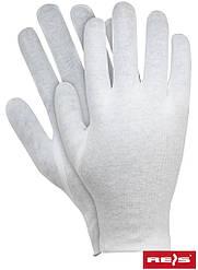 Перчатки для официанта трикотажные х/б белые RWKB W