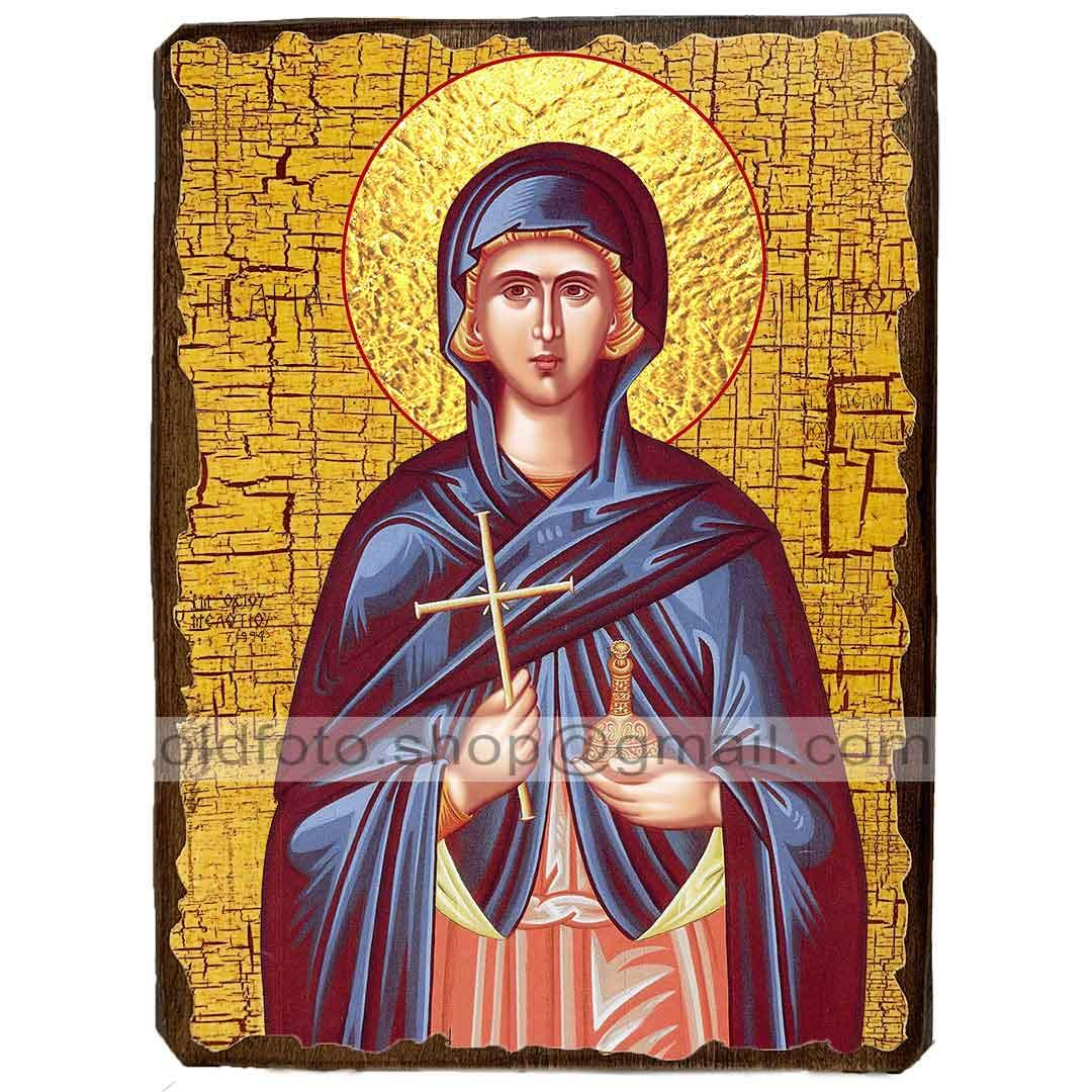 Ікона Марфа Вифанская Праведна ,ікона на дереві 130х170 мм
