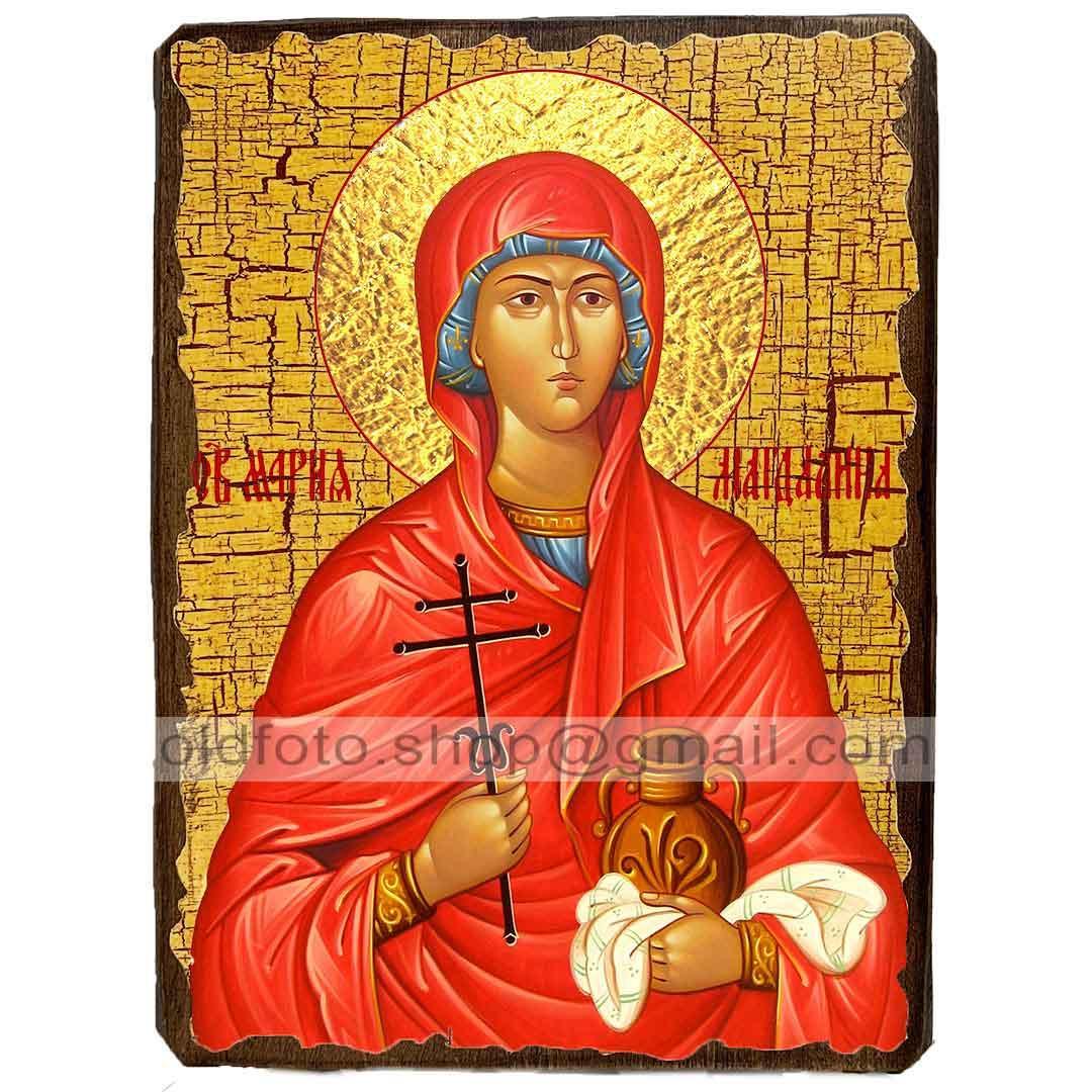 Икона Мария Магдалина Святая Равноапостольная ,икона на дереве 130х170 мм