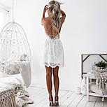 Літній гіпюрову коротке плаття з відкритою спинкою і розкльошеною спідницею (р. 42-46) 48032725, фото 6